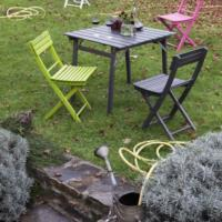 Folding chairs BASIC + Folding Table GARDEN