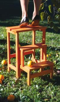 HAPPY FLOWERS wood step stool ladder