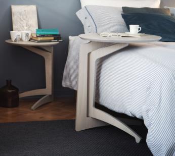 FOLDME bedside table light grey