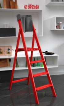 HOME wood folding portable ladder
