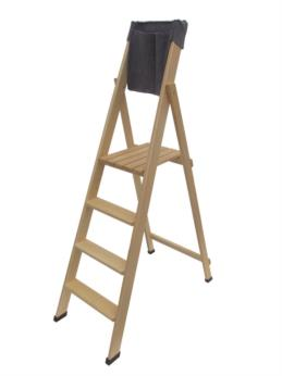 wood portable ladder Home 4 steps