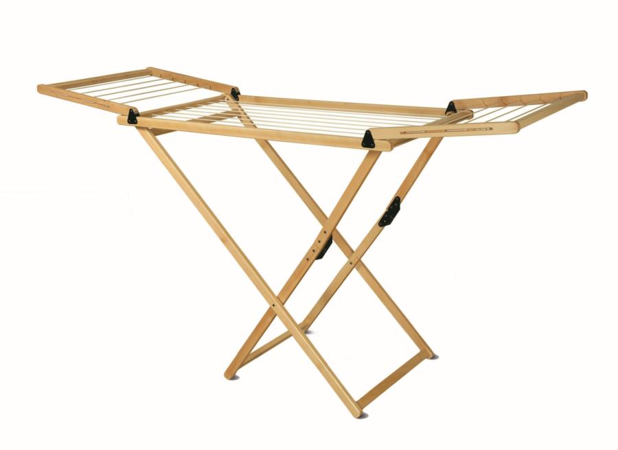 BASE folding wood clothes dryer