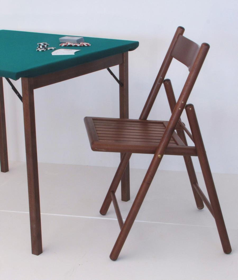 Damary Folding table 80x80 with green cloth