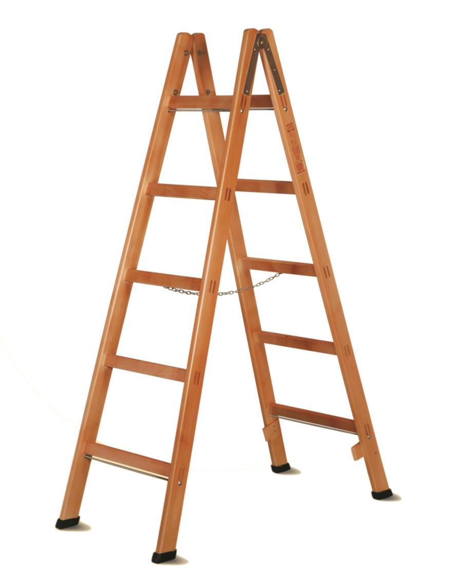 Wood portable ladder PROFESSIONAL by Del FABBRO