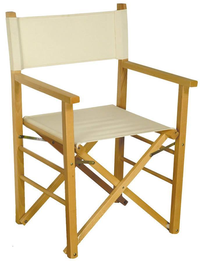Wood folding chair Montecarlo by Del Fabbro