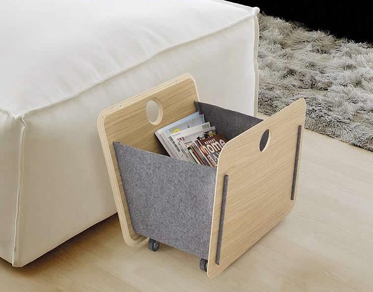 design magazine rack Sac by Del Fabbro