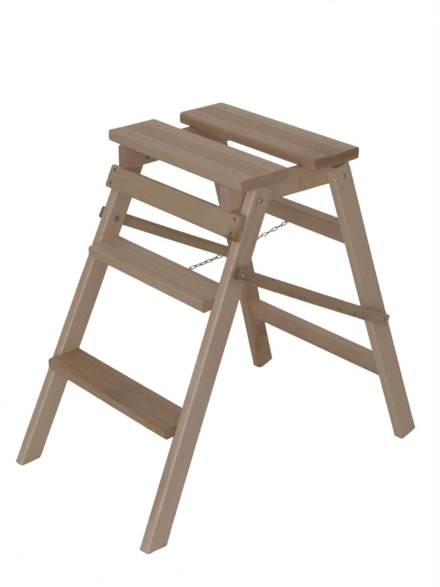 wood ladder HELPY 3 steps by Del Fabbro