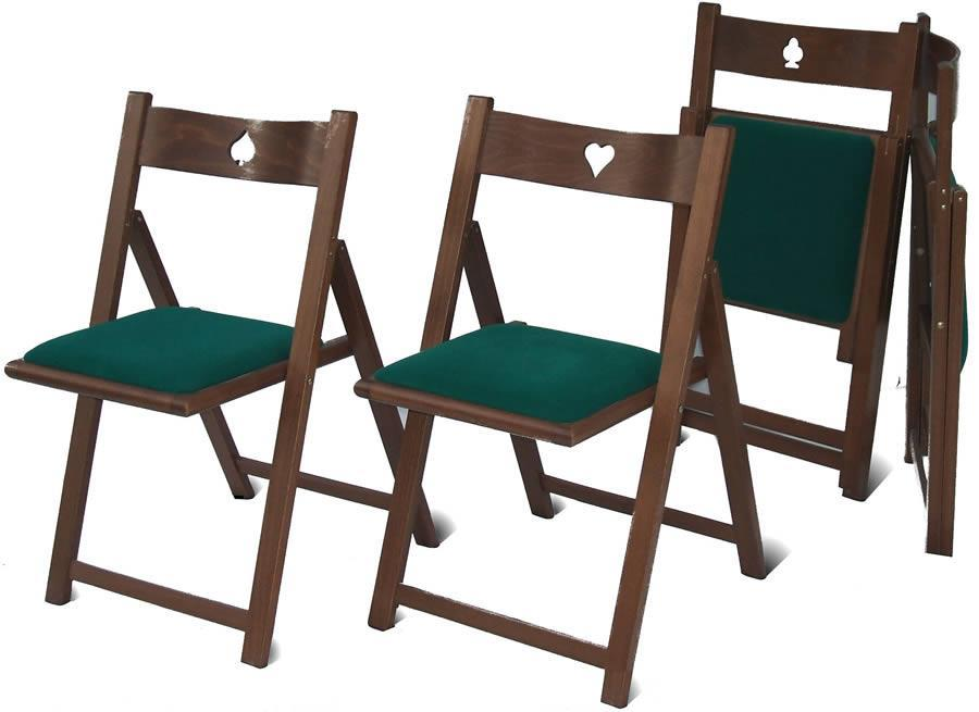wood folding chairs GIOCO by Del Fabbro
